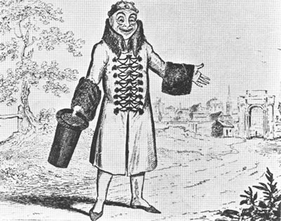 Grimaldi as Harlequin Whittington 1814